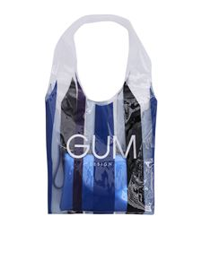 Gum Gianni Chiarini - Transparent shopping bag with Stripe Glam Limited Edition print