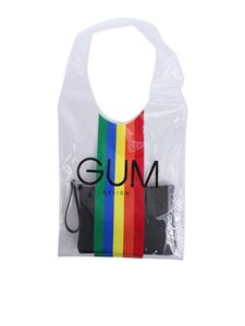 Gum Gianni Chiarini - Transparent shopping bag with Rainbow Limited Edition print