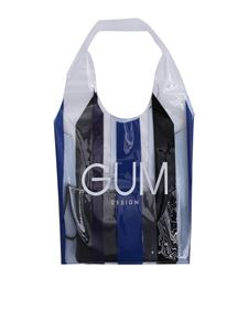 Gum Gianni Chiarini - Transparent shopper with Stripe Glam Limited Edition print