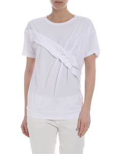 Fay - White Fay gathered T-shirt