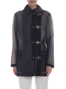 Fay - Black jacket with 4 hooks closure