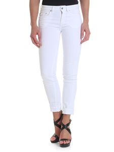 Dondup - White Monroe jeans with lace