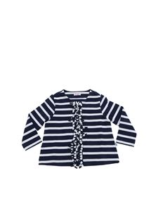Il Gufo - Striped jacket with fringed detail