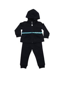 Moncler Jr - Blue tracksuit with light blue band