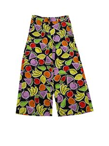 Stella McCartney Kids - Black trousers with fruit print