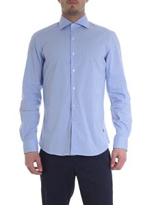 Fay - Striped shirt in light blue and white