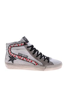 Golden Goose Deluxe Brand - Slide GGDB white sneakers with hearts