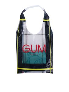 Gum Gianni Chiarini - Transparent shopping bag with Tartan Limited Edition print