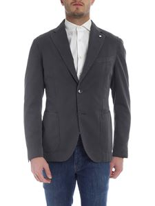 L.B.M. 1911 - Grey two buttons jacket with logo