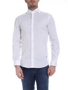 Fay - White Fay shirt with logo embroidery
