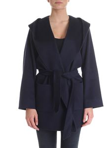Max Mara Studio - Cashmere and camel wool coat in blue