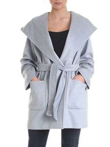 Max Mara Studio - Cashmere and camel wool coat in light blue