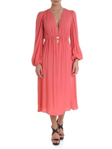 Elisabetta Franchi - Viscose dress in pink peony color