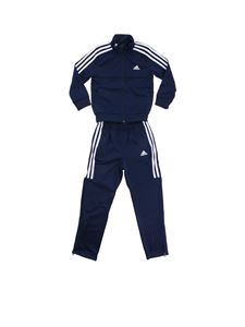 Adidas - Blue jumpsuit with 3 white stripes logo