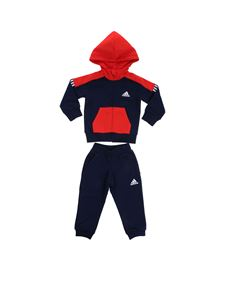 Adidas - Blue and orange Fitted jumpsuit