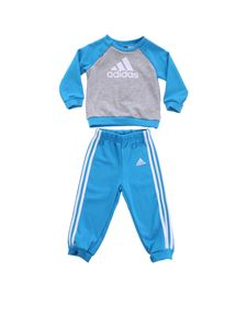 Adidas - Blue and grey French Terry jumpsuit
