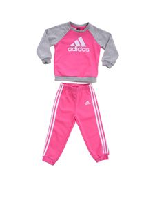 Adidas - Bright pink and grey French Terry jumpsuit