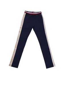 Tommy Hilfiger - Blue trousers with glittered detail