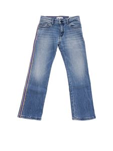 Tommy Hilfiger - Light blue jeans with golden and blue lamé band