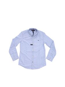 Tommy Hilfiger - Light blue embroidered Gingham shirt
