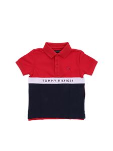 Tommy Hilfiger - Red and blue Tommy polo