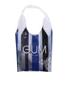 Gum Gianni Chiarini - Stripe Glam Limited Edition transparent shopper