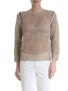 Lorena Antoniazzi - Golden linen blend sweater