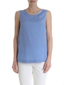 Lorena Antoniazzi - Light blue sleeveless silk blend top