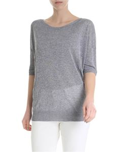 Kangra Cashmere - T-shirt in gray viscose