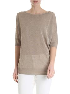 Kangra Cashmere - Golden viscose T-shirt