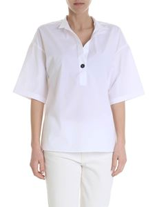 Fay - White blouse with korean collar