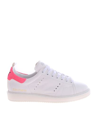 03040b9040 Starter sneakers in white and neon pink
