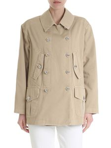 Ermanno by Ermanno Scervino - Beige jacket with Nasty Woman print