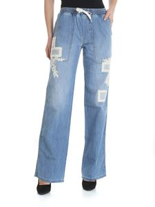 Ermanno by Ermanno Scervino - Light blue jeans with lace inserts