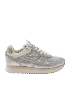 Lotto Leggenda - Tokyo Wedge sneakers in silver and gray