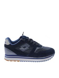 Lotto Leggenda - Slice Denim sneakers in blue leather and fabric