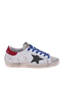 Golden Goose Deluxe Brand - Superstar sneakers in white, red and blue