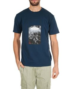 Stone Island - Blue t-shirt with Graphic Tree print