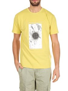 Stone Island - Yellow t-shirt with Graphic Five print