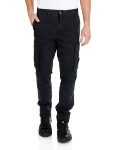 Stone Island - Blue cargo trousers with logo