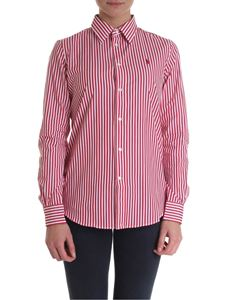 POLO Ralph Lauren - White and red striped women's shirt