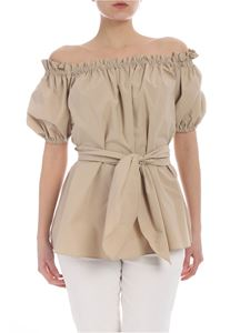 Pinko - Maria beige short-sleeved top