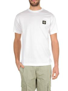 Stone Island - White t-shirt with logo patch