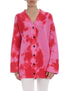 MSGM - Bright pink and red MSGM Dreaming Together cardigan