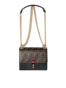 Fendi - Kan I Small bag in black leather