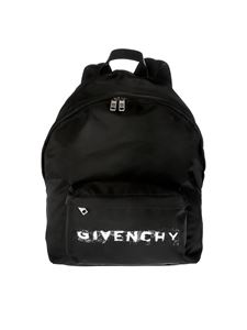 Givenchy - Backpack in black technical fabric with Givenchy print