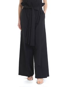 MSGM - Black trousers with MSGM ruffles