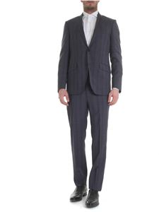 Etro - Woolen check suit in blue, gray and black