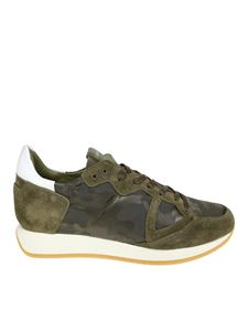 Philippe Model - Monaco L green camouflage sneakers
