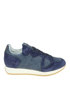 Philippe Model - Vintage blue Monaco sneakers